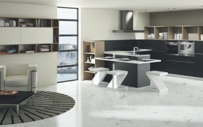 Concepto living en las cocinas